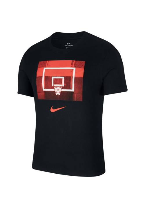 CAMISETA NIKE DRI-FIT BASKET NEGRA