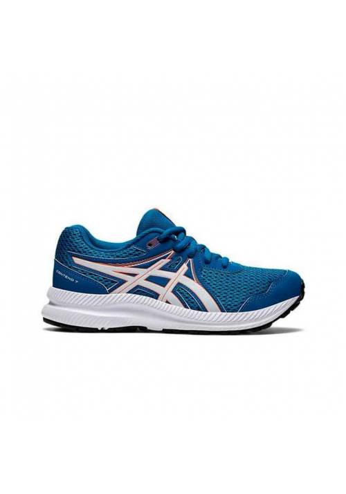 ASICS CONTEND 7 JR AZUL BLANCO