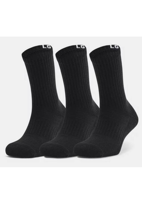 PACK 3 CALCETINES UNDER ARMOUR NEGROS